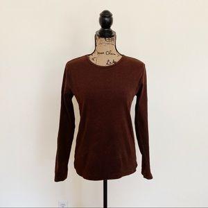 GAP Women's 100% Cotton Long Sleeve Ribbed T-Shirt